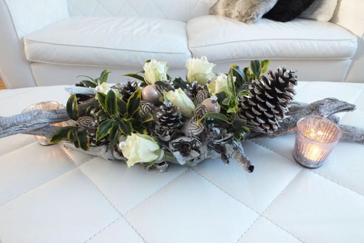 DIY Zelf maken Kerststuk Bloemstuk modern classic twist