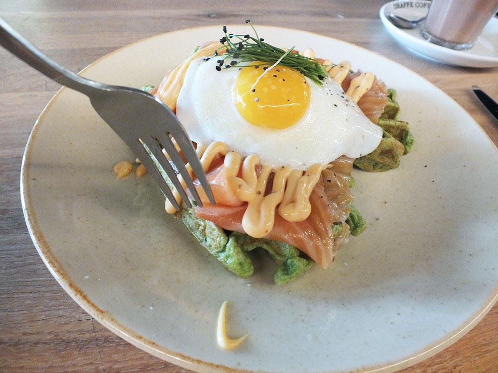 Club vers Den haag restaurant lunch ontbijt spinaziewafel review
