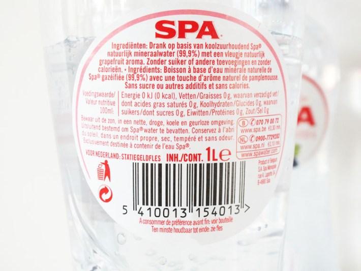 Review Spa Bruisend met smaak ingrediënten