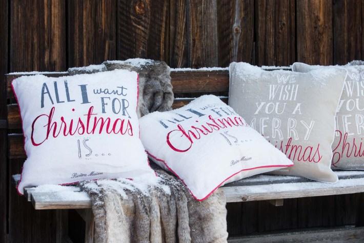 Rivièra Maison Kerstcollectie 2015 Cabon collectie kussens