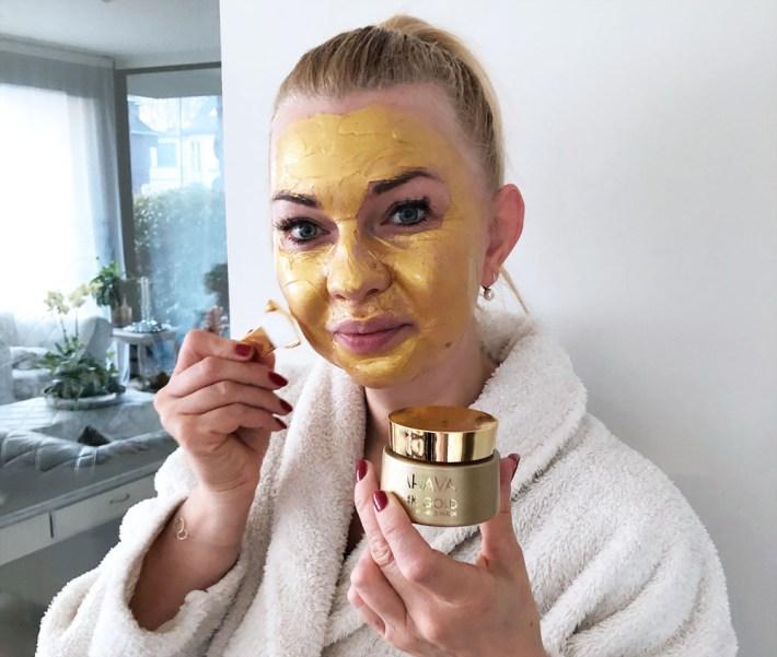 Getest: Ahava 24K gold masker, swatch, mineral mud mask, gouden masker