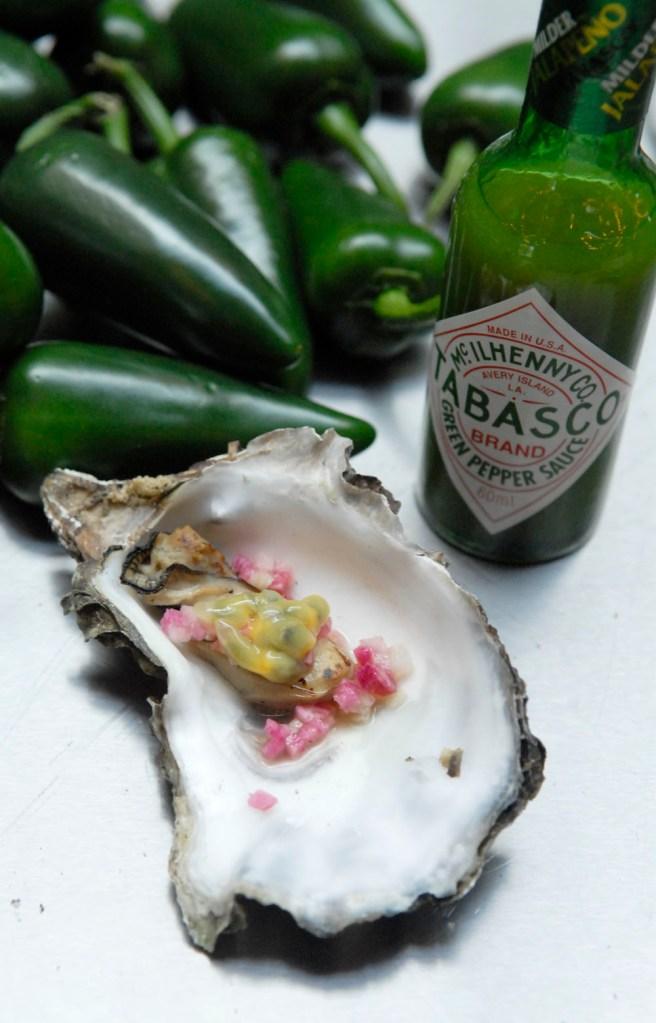 oester met tabasco