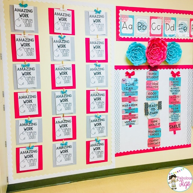 Classroom Tour 2018-2019 Blooming Blossoming Flower Students Display Wall