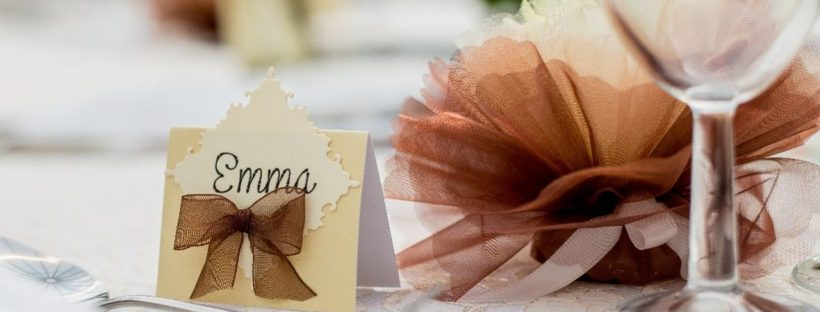 Place cards - wedding guests