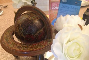 Vintage globe- accessory Hire - fabulous functions uk