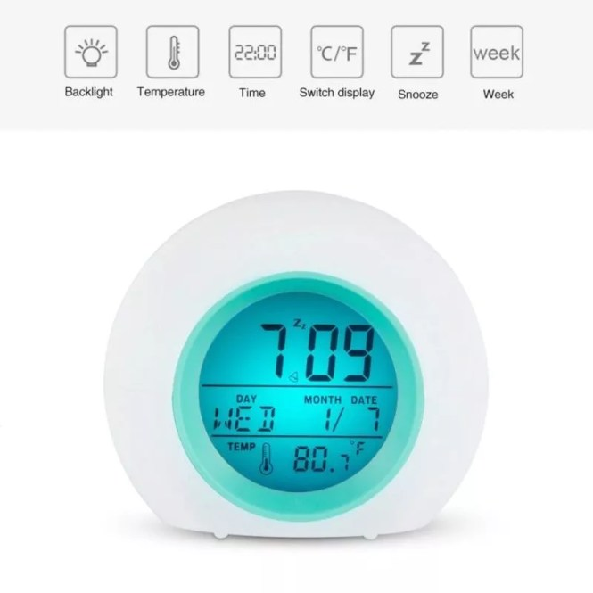 Colourful Digital Alarm Clock