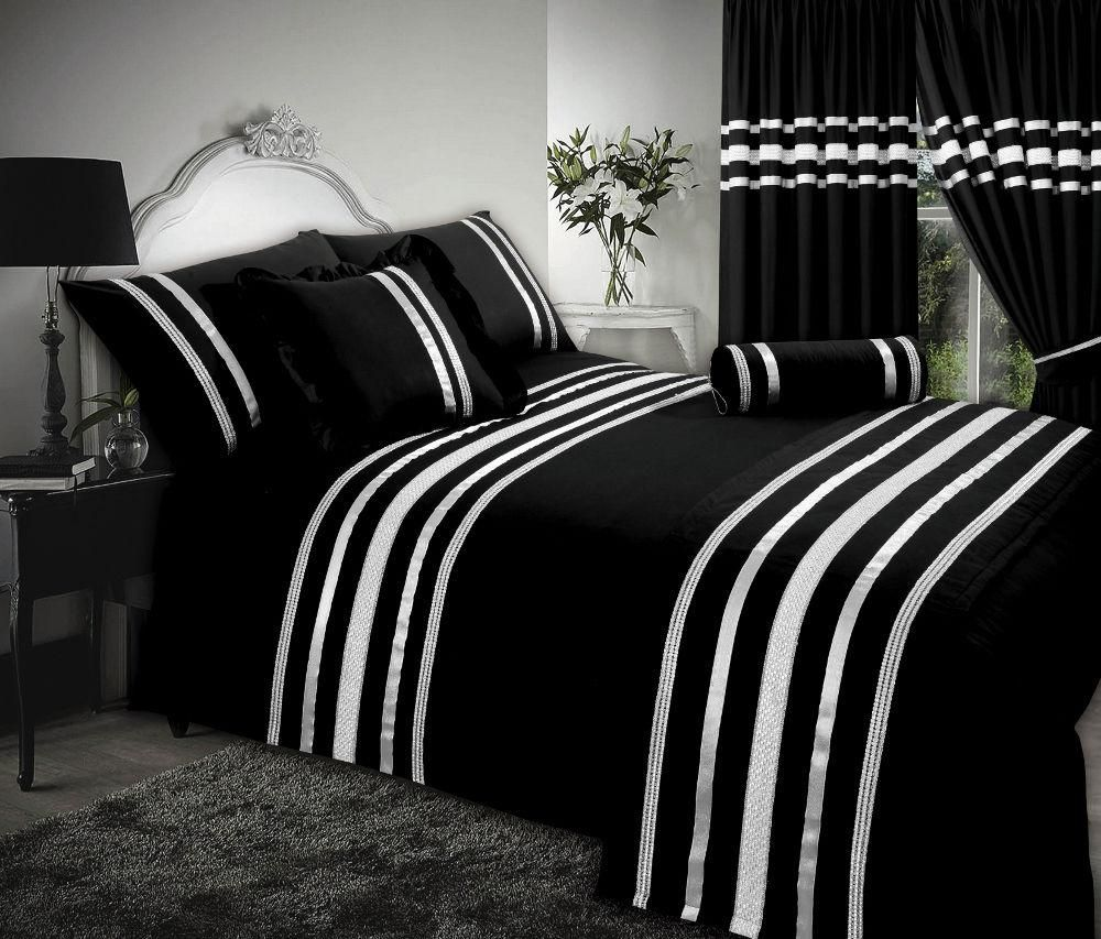 black silver stylish sequin duvet cover luxury beautiful glamour sparkle egyptian cotton bedding