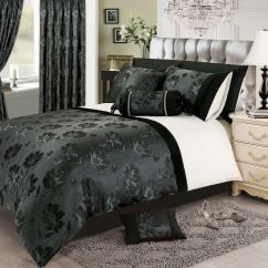 Large Throws For Sofa Mainstays Sleeper Full Black Silver White Colour Stylish Floral Jacquard Duvet ...