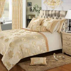 Cream Sofa Throws Western Sofas Sectionals Gold Colour Stylish Floral Jacquard Duvet Cover ...