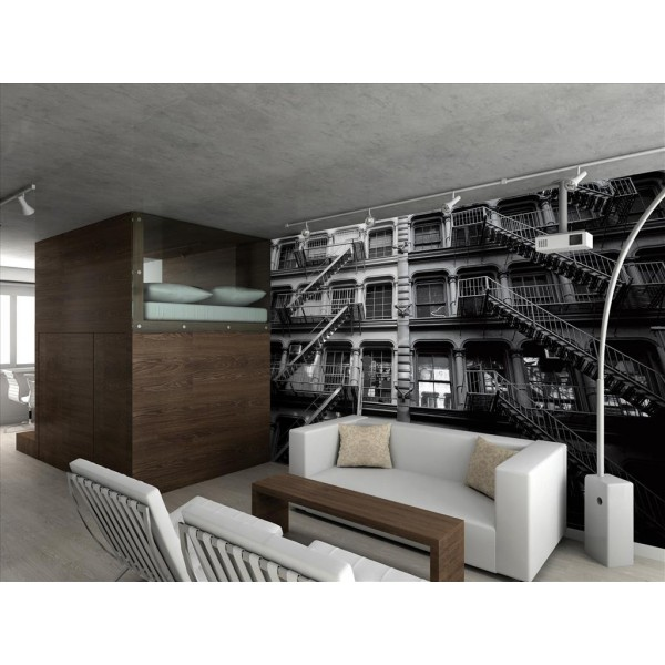 foam block sofa bed leather sofas hamilton ontario giant wallpaper wall mural new york apartment ...