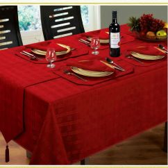 Memory Foam Kitchen Mats Corner Table Jacquard Dining Tablecloths Round Oblong Square Christmas ...