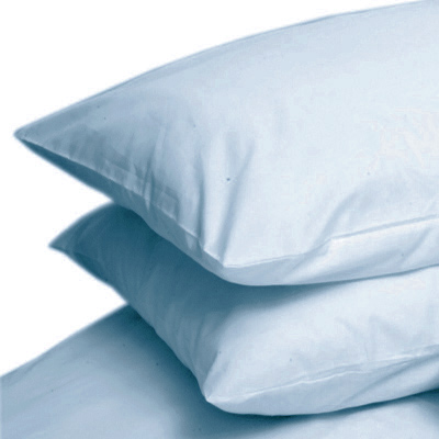 light blue colour percale housewife pair of pillowcases