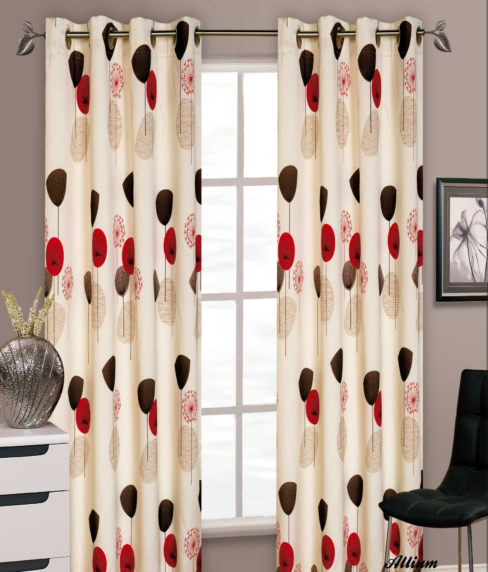 Windsor teal eyelet curtains harry corry limited - Stylish Floral Ring Top Eyelet Lined Curtains Faux Silk