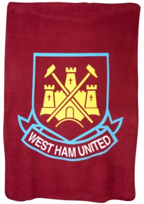 large sofa seat covers table with baskets west ham fc hammers fleece bed throw blanket