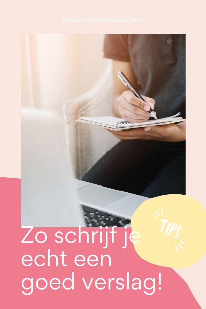 verslag schrijven