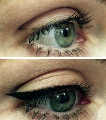 Permanent Cosmetics Eyeliner Before and After