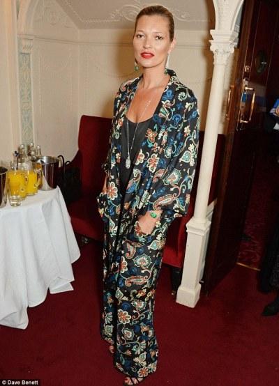 Vintage kimono as evening wear.