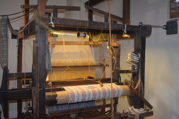 One of the only working looms in the country.