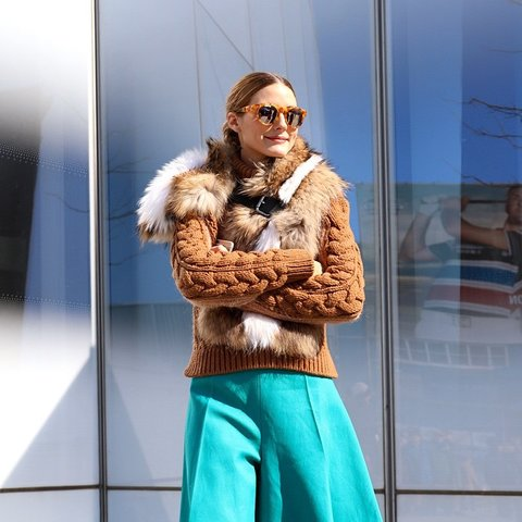 A fur cape with keep out the chill but add a touch of glamour!!