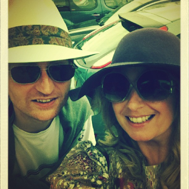 A touch of 70's along with her lovely hubby!