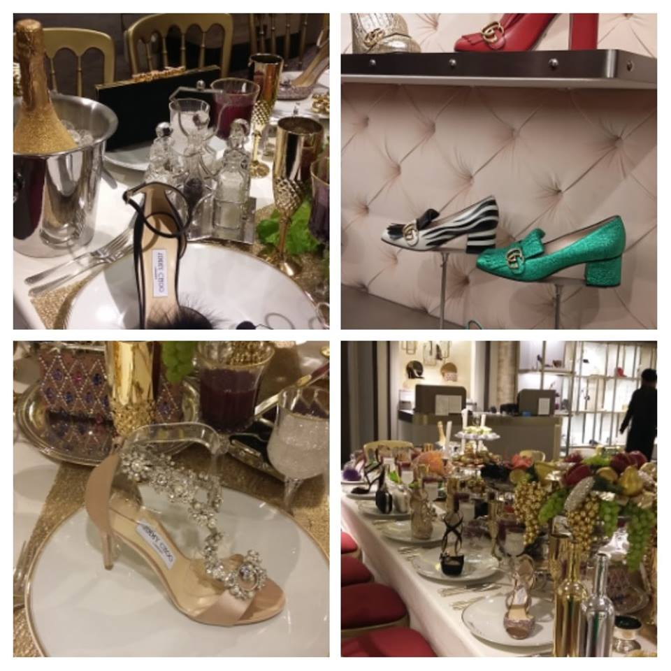 Shoes - Gucci and a Christmas a Jimmy Choo table setting!!