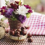 Decorate your home with fresh flowers for fall