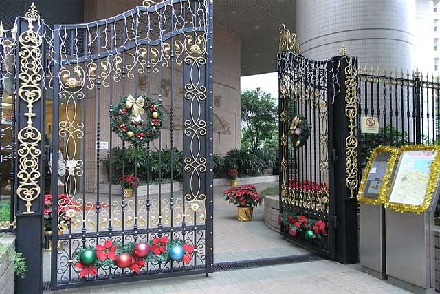 decorating the entrance of party