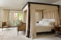 Exotic Canopy Bed with Cream white Curtains | Home ideas ...
