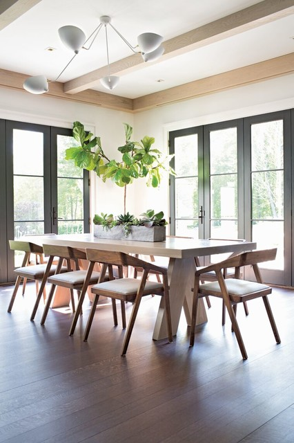 Architecturally Elegant Contemporary Dining Room  Home