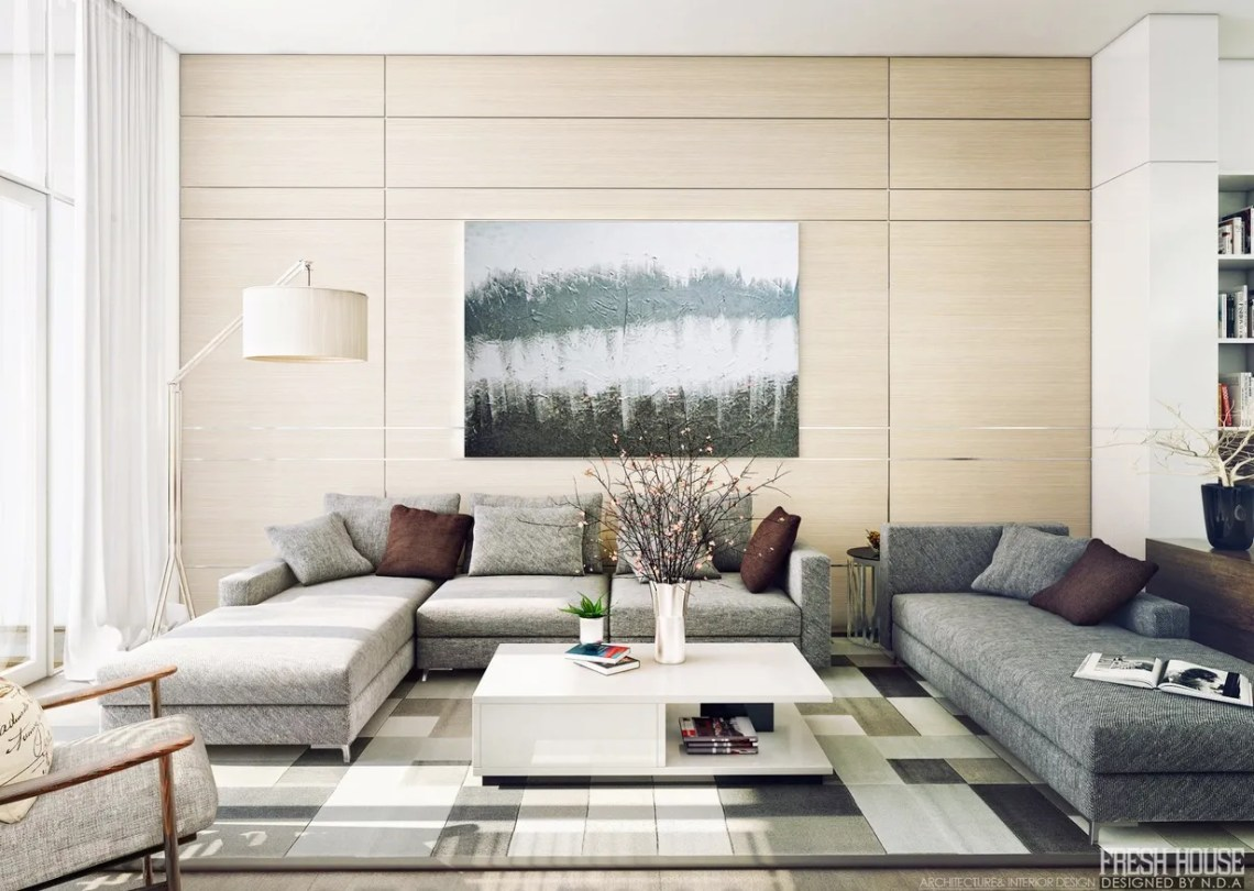Contemporary Living Room Interior Designs With Warm ...