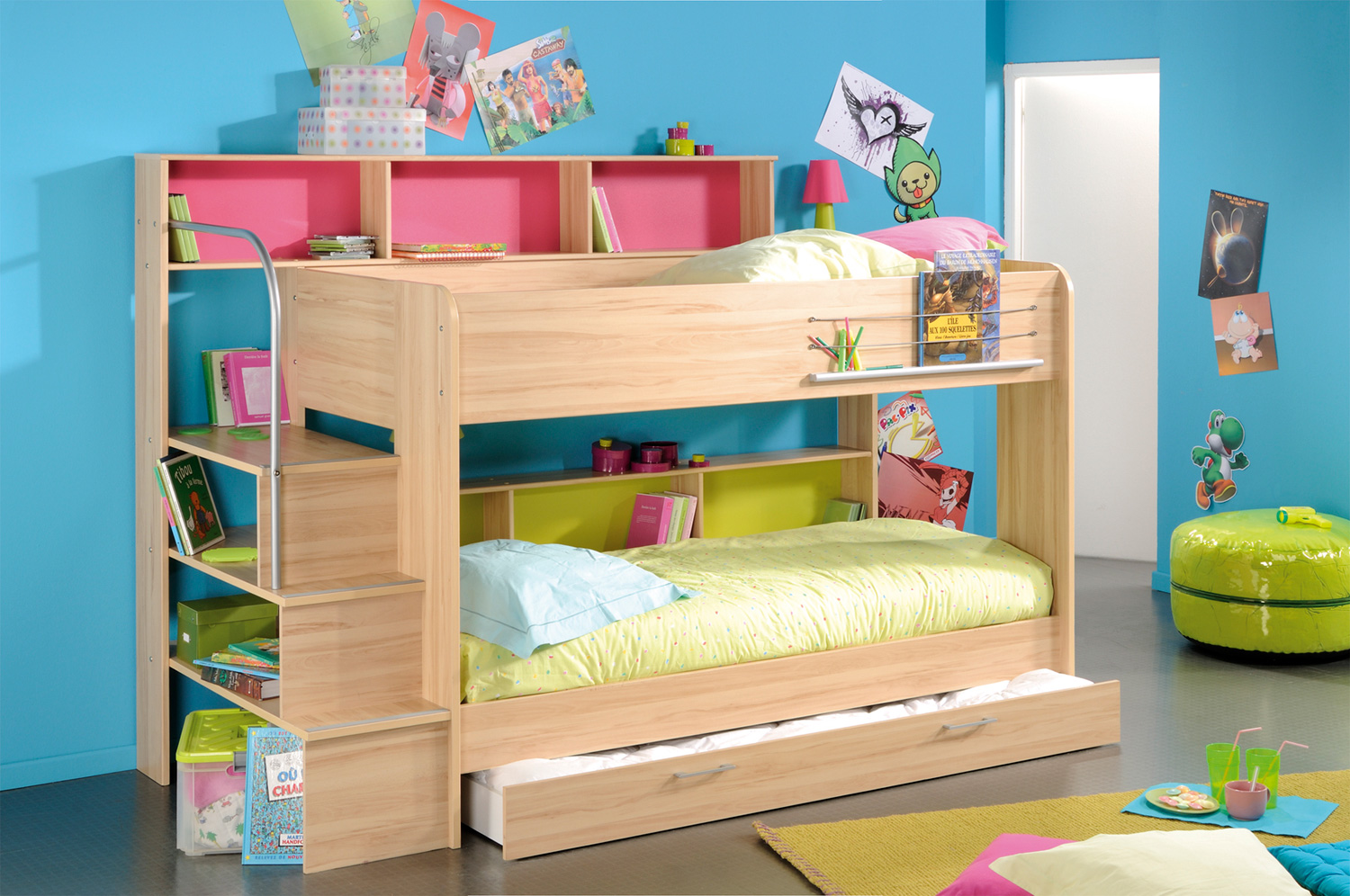 children s living room chairs round kitchen table and space saving stylish bunk beds for your home