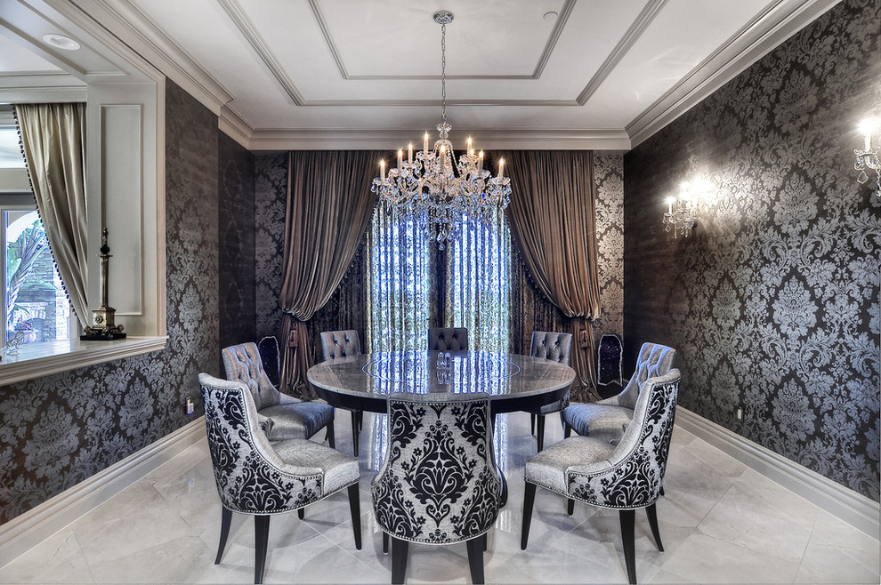 Damask Dining Room Chairs