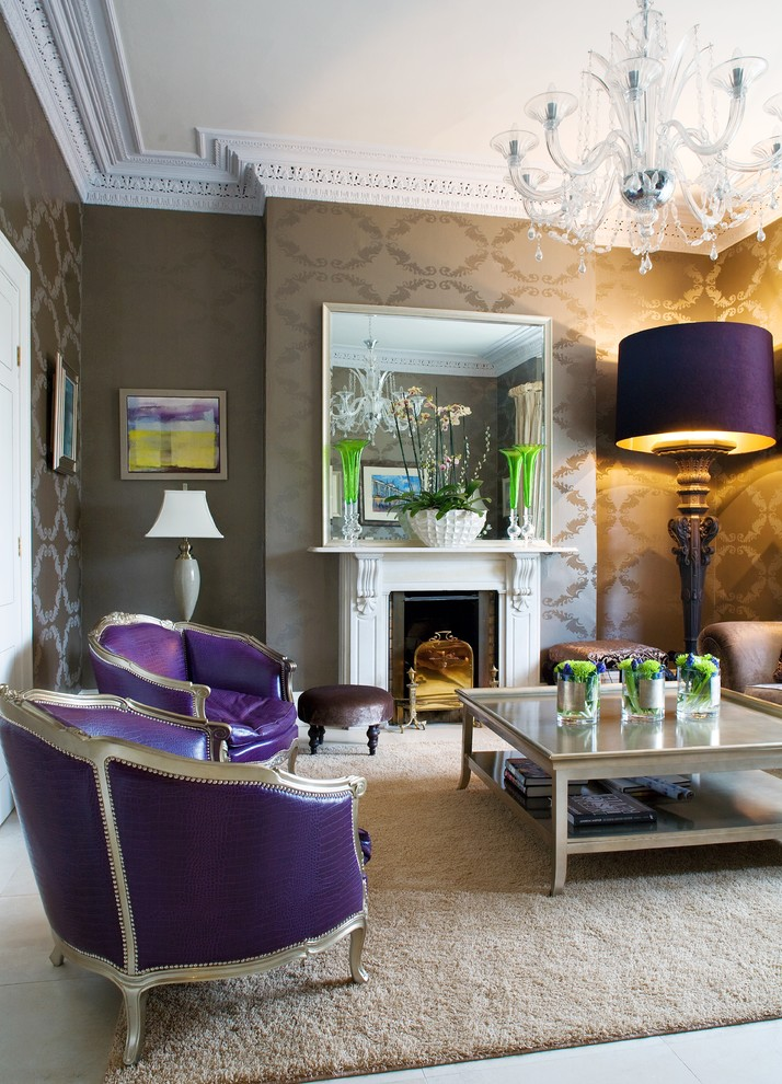 Victorian Drawing Room: 10 Purple Modern Living Room Decorating Ideas
