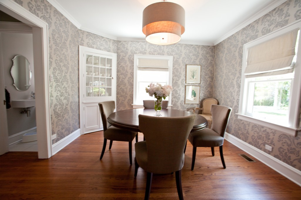 Dining Room Wallpaper Pink