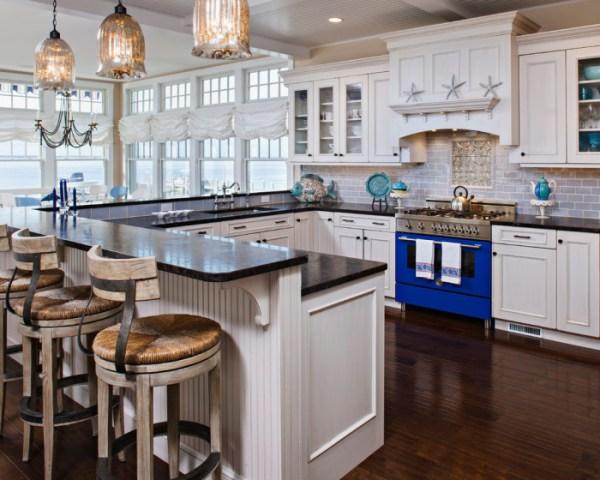 coastal style kitchen 10 G shaped kitchen layout Ideas