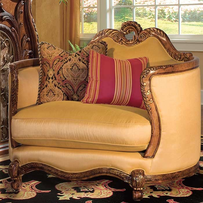 Patterned Chair And Half