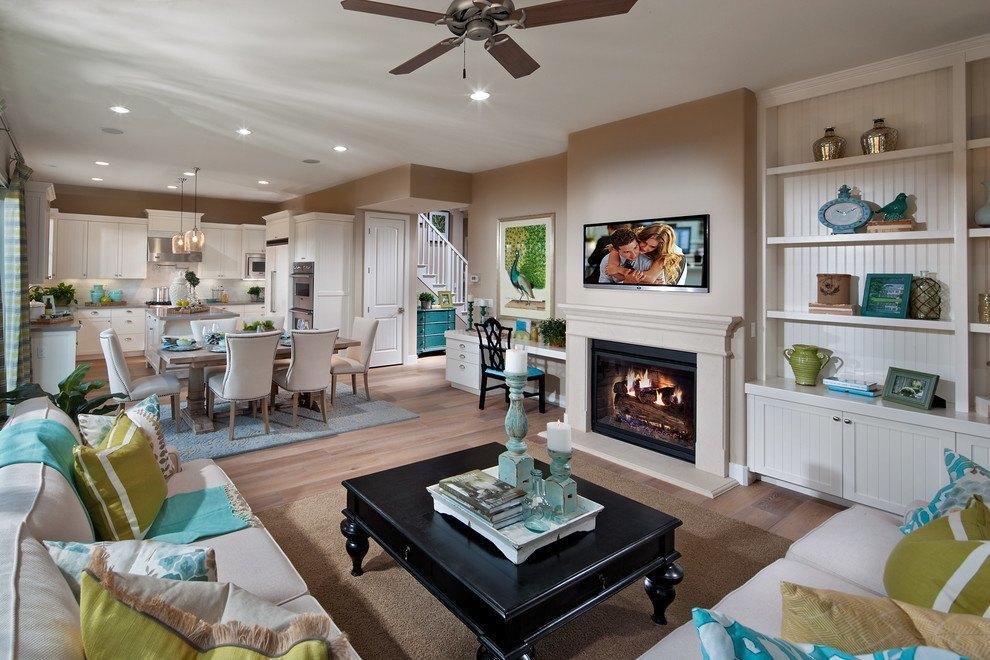Turquoise decorating ideas - Open floor plan decorating ideas ...