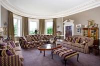 Living Room With Purple Sofa Furniture