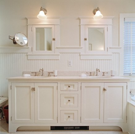 white wainscoting bathroom vanity White Beadboard For Bathroom Vanity Ideas