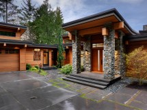 Modern House Design Exterior with Stone