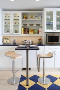 Modern glass fronted kitchen wall units