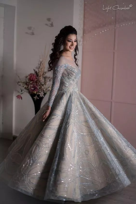 reception gown,