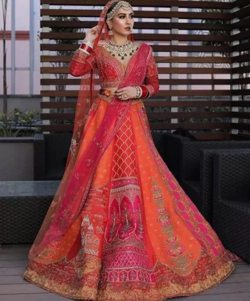 Wedding bridal lehenga-FabWeddings