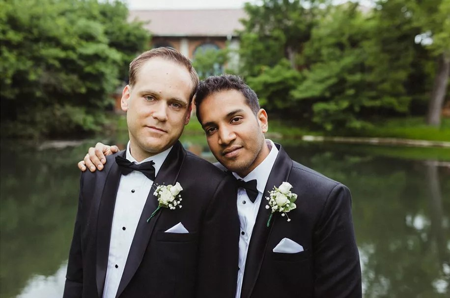 Intercultural love of Colin and Andrew