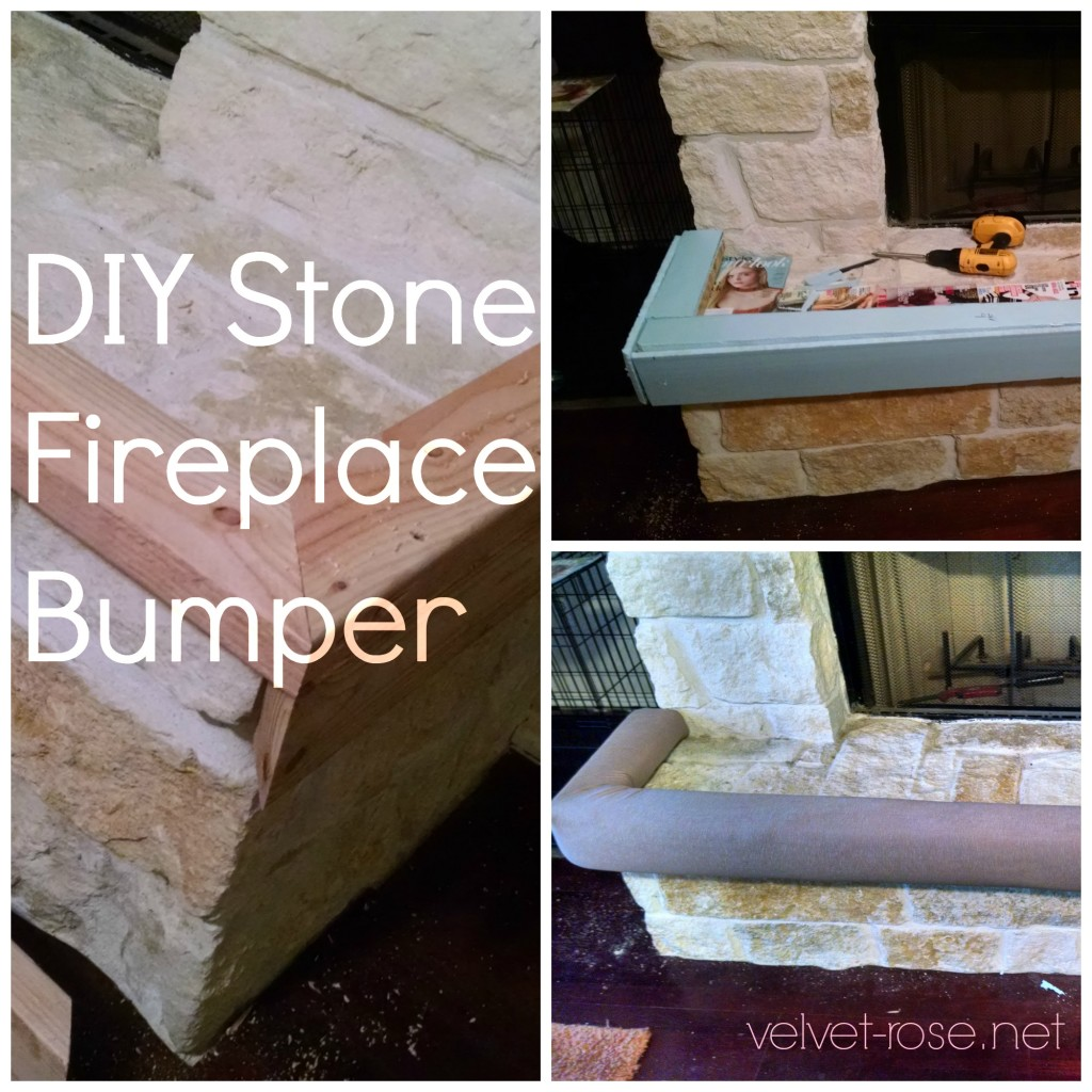 Diy Stone Fireplace Bumper Babyproofing