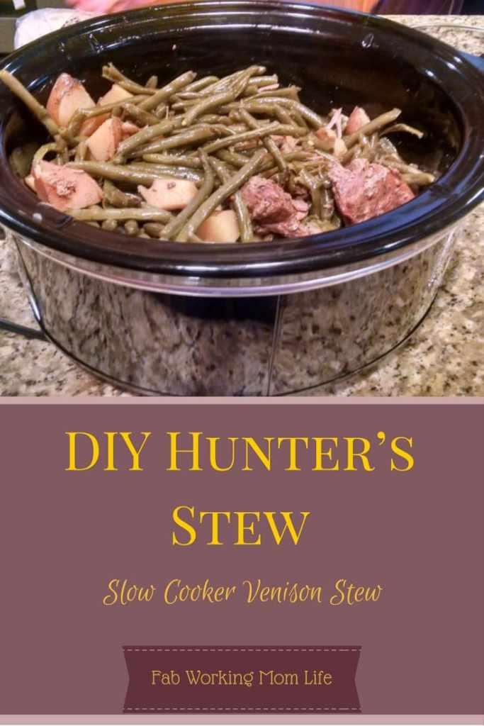 DIY Hunters Stew - Slow Cooker Venison Stew