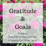 Gratitude and Goals October 2016 #GratitudeGoals