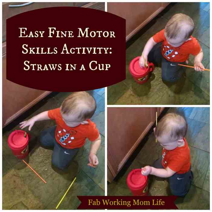 Straws in a Cup Fine Motor Skills Activity