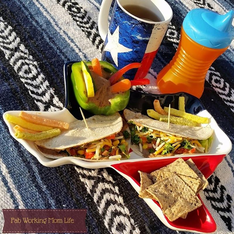 Southwest Hummus Tacos