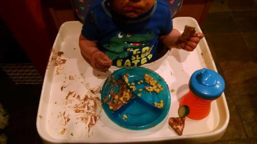 My Toddler Enjoying Hummus
